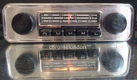 BLAUPUNKT EMDEN VW OEM Vintage Classic Car FM Radio +MP3 seeVideo MINT RESTORED 6M WARRANTY 60s70s VW BUG BEETLE CAMPER VAN BUS KARMANN GHIA