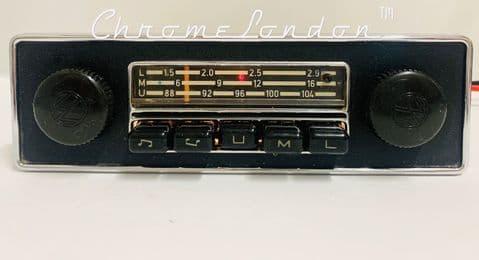 BLAUPUNKT EMDEN VW OEM Vintage MONOCHROME Classic Car FM Radio  BEETLE BUS CAMPER KARMANN GHIA