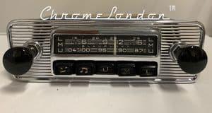 BLAUPUNKT ESSEN  12v+/- Vintage Chrome Classic Car FM Radio  ETYPE ASTON FERRARI MASERATI ALFA