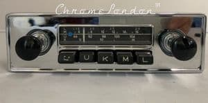 BLAUPUNKT ESSEN Vintage Chrome Classic Car FM Radio +MP3 ASTON DB TR6 JAG ETYPE MG