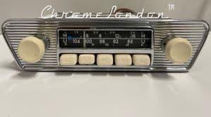 BLAUPUNKT ESSEN  Vintage IVORY Classic Car FM Radio MP3 JAG ETYPE MG FERRARI 330 AMPHICAR (1)