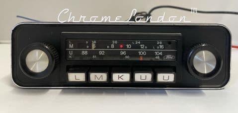 BLAUPUNKT FORD P42 OEM Vintage Classic Car FM Radio +MP3 MINT see video WARRANTY