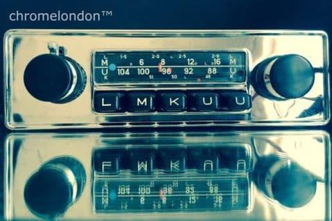BLAUPUNKT FRANKFURT 12V+/- Vintage Classic Car FM Radio +MP3 seeVideo MINT RESTORED JAG ETYPE MKII ASTON DB 5 6 MG B TR6 HEALEY PORSCHE 911 ALFA