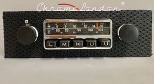 BLAUPUNKT FRANKFURT Basketweave Vintage Classic Car FM Radio +MP3  MINT RESTORED 65-73 PORSCHE 911