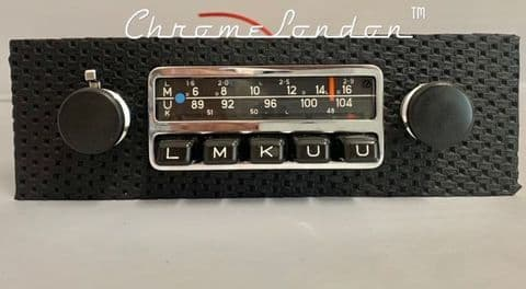 BLAUPUNKT FRANKFURT Basketweave Vintage Classic Car FM Radio +MP3  MINT RESTORED 65-73 PORSCHE 911