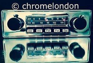 BLAUPUNKT FRANKFURT STEREO US Vintage Classic Car FM Radio MP3 seeVideo MINT RESTORED  PORSCHE 911 FERRARI DINO 365 MASERATI ETYPE MG ASTON V8