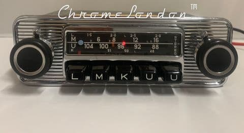 BLAUPUNKT FRANKFURT STEREO Vintage Chrome Classic Car FM Radio  ROLLS SHADOW CORNICHE HEALEY  ETYPE