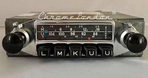 BLAUPUNKT FRANKFURT STEREO Vintage Classic Car FM Radio PORSCHE 356 A B C 912 911