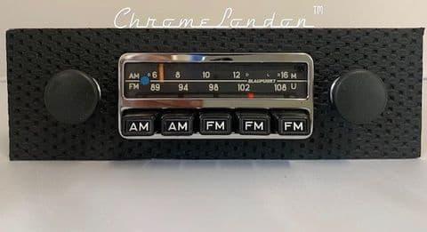 BLAUPUNKT FRANKFURT US Basketweave Vintage Classic Car FM Radio +MP3  65-73 PORSCHE 911 912 914