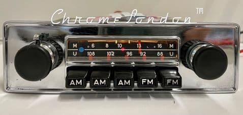 BLAUPUNKT FRANKFURT US Vintage Chrome Classic Car FM Radio PORSCHE FERRARI ALFA VW ETYPE