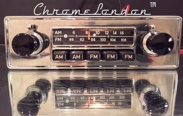 BLAUPUNKT FRANKFURT US Vintage Classic Car FM Radio +MP3 WARRANTY PORSCHE 356 912 VW BUG BU