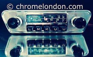 BLAUPUNKT FRANKFURT Vintage Chrome Classic Car FM Radio MP3 MINT JAG ETYPE ASTON DB FERRARI ALFA