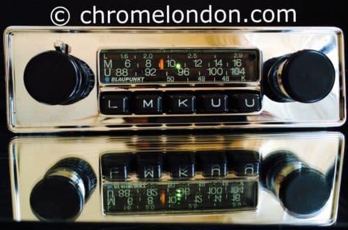 BLAUPUNKT FRANKFURT Vintage Chrome Classic Car FM Radio  seeVideo  PORSCHE 911 912 914
