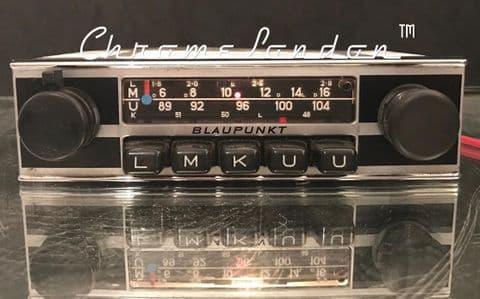 BLAUPUNKT FRANKFURT Vintage Classic Car FM Radio +MP3 FULL WARRANTY JAGUAR ETYPE TR6 ASTON MG HEALEY PORSCHE 911 912  ALFA