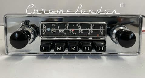 BLAUPUNKT FRANKFURT Vintage Classic Car FM Radio +MP3  PORSCHE 912  911 ETYPE FERRARI VW MERCEDES