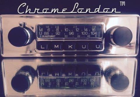 BLAUPUNKT FRANKFURT Vintage Classic Car FM Radio +MP3  PORSCHE ALFA MG ETYPE FERRARI VW