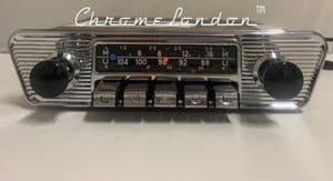BLAUPUNKT KARLSRUHE DELUXE Vintage Classic Car FM Radio JAG ETYPE MKII VOLVO P1800 VW KARMANN