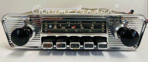 BLAUPUNKT KOBLENZ 6v/12v+/- DELUXE  Vintage Classic Car FM Radio MP3 JAGUAR ETYPE ASTON MG HEALEY