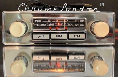 BLAUPUNKT MONTREAL  12V+/- Vintage Classic Car FM Radio +MP3   JAGUAR ETYPE MG TR6  HEALEY VW ALFA