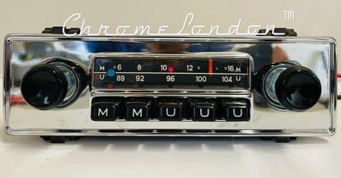 BLAUPUNKT MUNSTER  CHROME VINTAGE CLASSIC CAR FM Radio PORSCHE 912