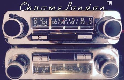 BLAUPUNKT Vintage Chrome Classic Car FM Radio MP3  LOTUS ELAN EUROPA MG KARMANN SPRITE IMP MINI FIAT