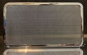 CHROME SPEAKER GRILL + OVAL SPEAKER - ASTON MARTIN DB4 DB5 DB6 JAG MK2 & UNIVERSAL