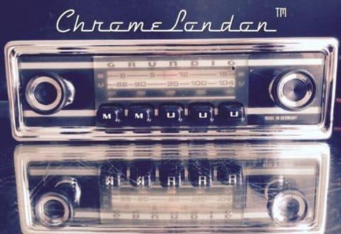 GRUNDIG WELTKLANG Vintage Chrome Classic Car FM MW Radio +MP3  ALFA SPIDER GTV FIAT 850 LANCIA