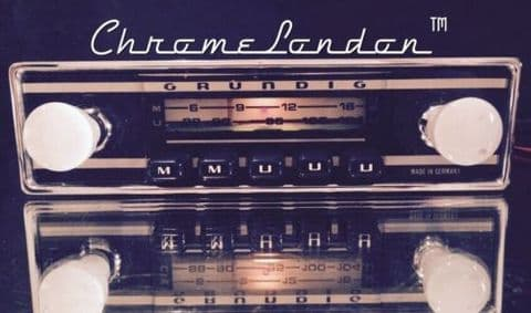 GRUNDIG WELTKLANG  Vintage Chrome Classic Car FM Radio MP3  ALFA SPIDER GUILIA GTV SPRINT GT FIAT
