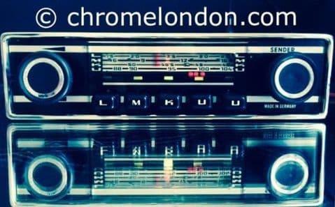 GRUNDIG WELTKLANG Vintage Chrome Classic Car FM Radio MP3  ALFA SPIDER PORSCHE 911 VW ETYPE TR6
