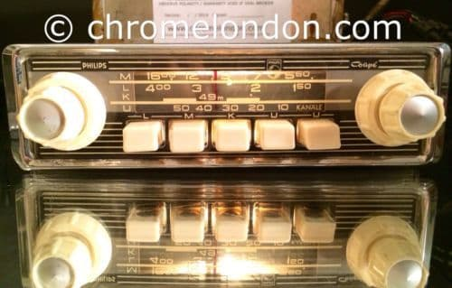 Ivory PHILIPS COUPE  Vintage Classic Car FM Radio +Amp+MP3 RESTORED seeVideo 6v12/-