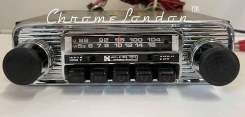 NECKERMANN Vintage Chrome Classic Car FM Radio seeVideo  PORSCHE VW BMW CS JAG MG ALFA