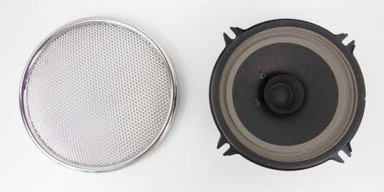 PAIR 2x LOUDSPEAKER AND CHROME GRILL / CASE NEW - PORSCHE 356 B T6 + C