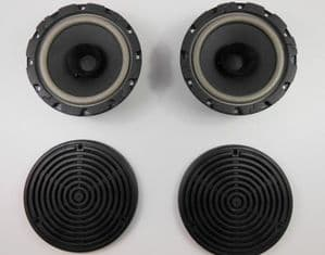 REAR SPEAKER SET AND GRILLS - MERCEDES W107SLC W116 W123