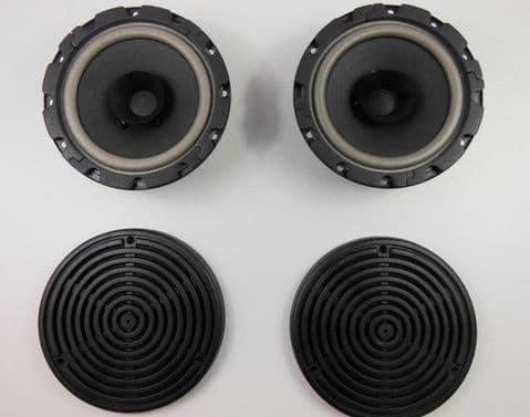 REAR SPEAKER SET AND GRILLS - MERCEDES W107SLC W116 W123