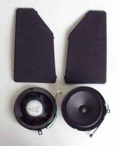 REAR  SPEAKER SET WITH COVERS- MERCEDES W124 85-96