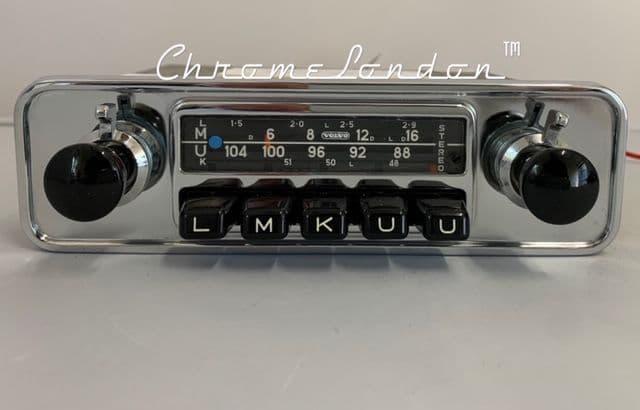 VOLVO OEM BLAUPUNKT FRANKFURT STEREO 12/- Vintage Classic Car Radio WARRANTY VOLVO AMAZON P1800