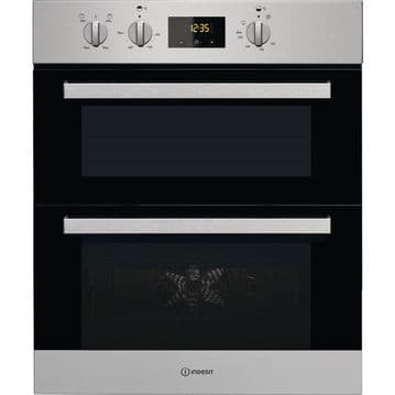 INDESIT IDU6340IX Built Under Double Oven
