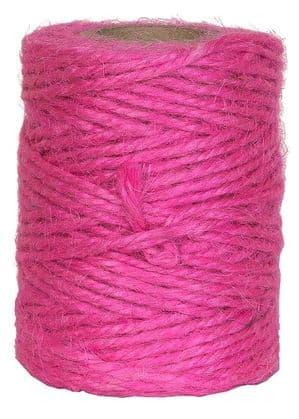 V15615 - Hot Pink Twine 50m Jute JT50.15 6/PK