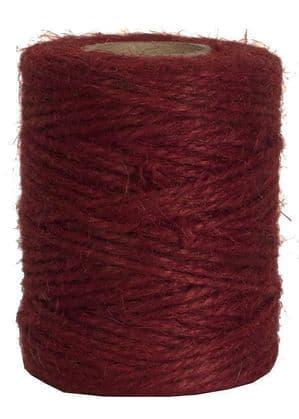 V15677 - Wine Red Twine 50m Jute JT50.25 6/PK