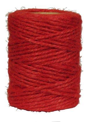 V20510 - Tomato Red Twine 50m Jute JT50.20 6/PK