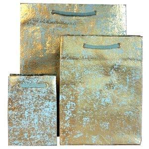V22286; V22293; V22309 - Gold on Mint Crush Gift Bags GBG171.43/51 10/PK
