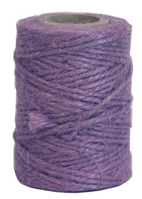 V23849 - Lovely Lilac Twine 50m Jute JT50.32 6/PK
