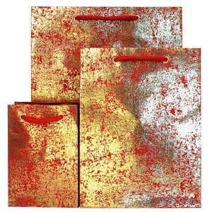 V24983; V24921; V24860 - Gold Crush on Red Gift Bag GBG171.20/51 10/PK
