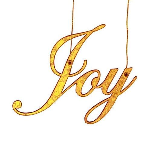 V25775 - Gold Joy Hanging Decoration  FJOY.51 6/PK