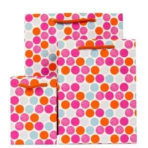 V28042; V28059; V28066 - Polka Raspberry Gift Bag - GBG233.00/17  10/PK