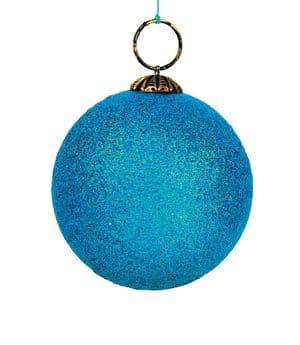 V29896 - Glitter Bauble Decs Turquoise GBD.45 6/PK