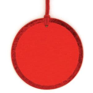 V30021 - Red Foil Round Tags - GTRF.20/20 12/PK