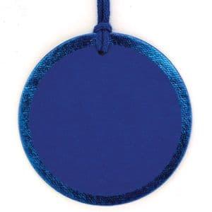 V30045 - Blue Foil Round Tags - GTRF.48/48 12/PK