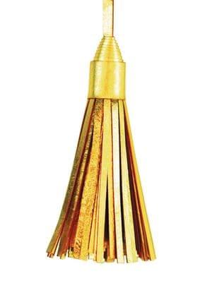 V30076 - Gold Leather Topper Tassels - LTT.51 12/PK