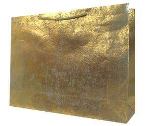 V30403 - Gold on Gunmetal Crush XL Gift Bags GBG171XL.82/51 5/PK